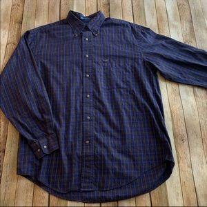 Faconnable men's plaid button down shirt